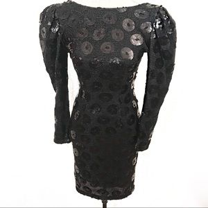 Gorgeous vintage sequins 80's dress